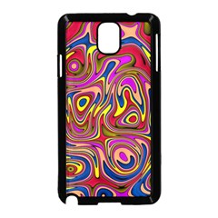 Abstract Shimmering Multicolor Swirly Samsung Galaxy Note 3 Neo Hardshell Case (black) by designworld65