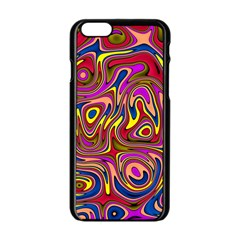 Abstract Shimmering Multicolor Swirly Apple Iphone 6/6s Black Enamel Case by designworld65