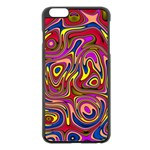 Abstract Shimmering Multicolor Swirly Apple iPhone 6 Plus/6S Plus Black Enamel Case