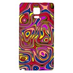Abstract Shimmering Multicolor Swirly Galaxy Note 4 Back Case