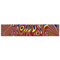Abstract Shimmering Multicolor Swirly Flano Scarf (small) by designworld65