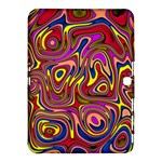 Abstract Shimmering Multicolor Swirly Samsung Galaxy Tab 4 (10.1 ) Hardshell Case