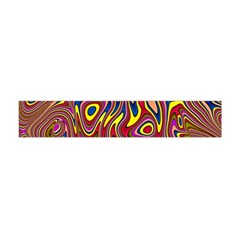 Abstract Shimmering Multicolor Swirly Flano Scarf (mini) by designworld65