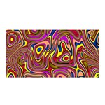 Abstract Shimmering Multicolor Swirly Satin Wrap