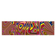 Abstract Shimmering Multicolor Swirly Satin Scarf (oblong) by designworld65