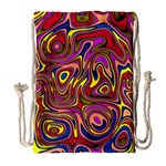 Abstract Shimmering Multicolor Swirly Drawstring Bag (Large)