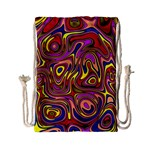 Abstract Shimmering Multicolor Swirly Drawstring Bag (Small)