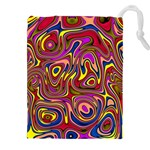 Abstract Shimmering Multicolor Swirly Drawstring Pouches (XXL)