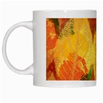 Fall Colors Leaves Pattern White Mugs