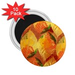 Fall Colors Leaves Pattern 2.25  Magnets (10 pack)