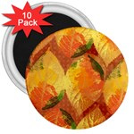 Fall Colors Leaves Pattern 3  Magnets (10 pack)