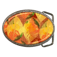 Fall Colors Leaves Pattern Belt Buckles by DanaeStudio