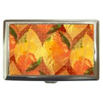 Fall Colors Leaves Pattern Cigarette Money Cases