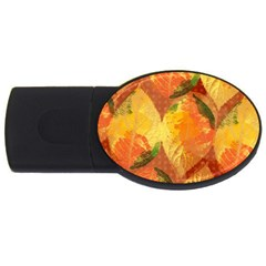 Fall Colors Leaves Pattern Usb Flash Drive Oval (2 Gb)  by DanaeStudio
