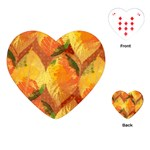 Fall Colors Leaves Pattern Playing Cards (Heart)