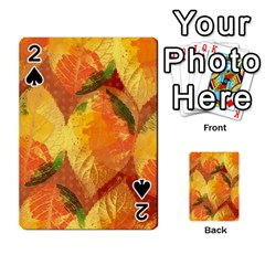 Fall Colors Leaves Pattern Playing Cards 54 Designs  by DanaeStudio