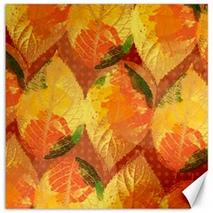 Fall Colors Leaves Pattern Canvas 12  X 12   by DanaeStudio