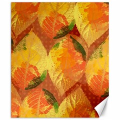 Fall Colors Leaves Pattern Canvas 20  X 24   by DanaeStudio