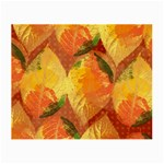 Fall Colors Leaves Pattern Small Glasses Cloth (2-Side)