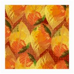 Fall Colors Leaves Pattern Medium Glasses Cloth (2-Side)