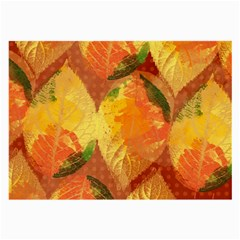 Fall Colors Leaves Pattern Large Glasses Cloth by DanaeStudio