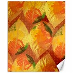 Fall Colors Leaves Pattern Canvas 11  x 14