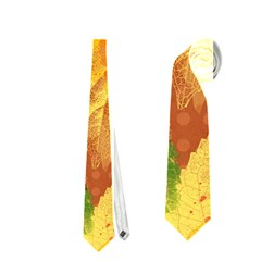 Fall Colors Leaves Pattern Neckties (Two Side)  by DanaeStudio