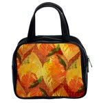 Fall Colors Leaves Pattern Classic Handbags (2 Sides)