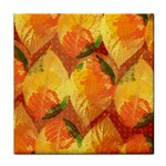Fall Colors Leaves Pattern Face Towel