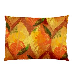Fall Colors Leaves Pattern Pillow Case by DanaeStudio