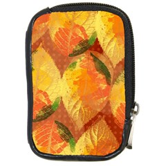 Fall Colors Leaves Pattern Compact Camera Cases by DanaeStudio