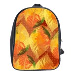 Fall Colors Leaves Pattern School Bags(Large)