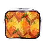 Fall Colors Leaves Pattern Mini Toiletries Bags