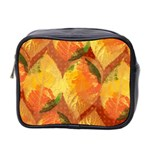 Fall Colors Leaves Pattern Mini Toiletries Bag 2-Side