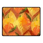 Fall Colors Leaves Pattern Fleece Blanket (Small)
