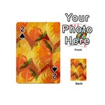 Fall Colors Leaves Pattern Playing Cards 54 (Mini)