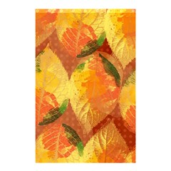 Fall Colors Leaves Pattern Shower Curtain 48  X 72  (small)  by DanaeStudio