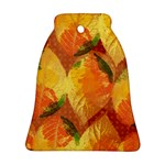 Fall Colors Leaves Pattern Ornament (Bell)
