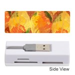 Fall Colors Leaves Pattern Memory Card Reader (Stick)