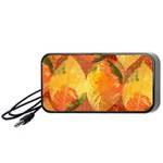 Fall Colors Leaves Pattern Portable Speaker (Black)