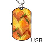 Fall Colors Leaves Pattern Dog Tag USB Flash (One Side)