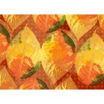 Fall Colors Leaves Pattern Birthday Cake 3D Greeting Card (7x5)