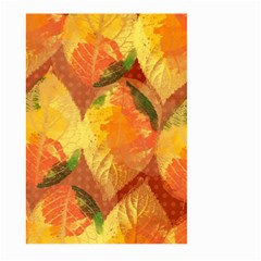 Fall Colors Leaves Pattern Large Garden Flag (two Sides) by DanaeStudio