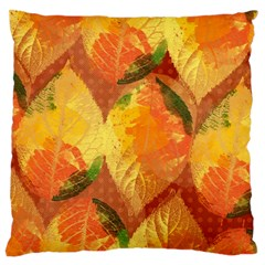 Fall Colors Leaves Pattern Large Cushion Case (two Sides) by DanaeStudio