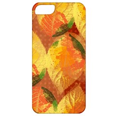 Fall Colors Leaves Pattern Apple Iphone 5 Classic Hardshell Case by DanaeStudio
