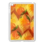 Fall Colors Leaves Pattern Apple iPad Mini Case (White)