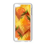 Fall Colors Leaves Pattern Apple iPod Touch 5 Case (White)