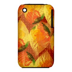 Fall Colors Leaves Pattern Apple Iphone 3g/3gs Hardshell Case (pc+silicone) by DanaeStudio