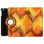 Fall Colors Leaves Pattern Apple iPad Mini Flip 360 Case