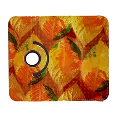 Fall Colors Leaves Pattern Samsung Galaxy S  Iii Flip 360 Case by DanaeStudio